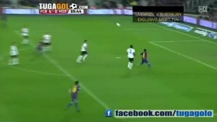 Hq - Barcelona vs Hospitalet 9-0 All Goals Full Match Highlights 22.12.2011 Copa del Rey