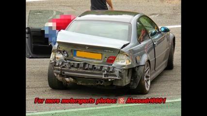 Компилация катастрофи с Bmw -та на Nurburgring !