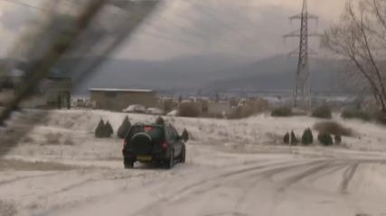 Ледена пързалка по пътищата на Казанлък