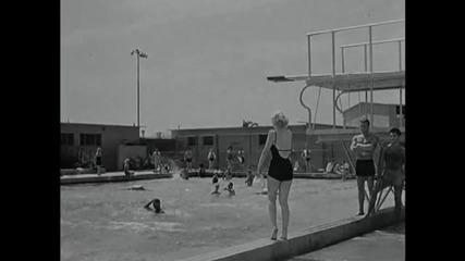 Monkey Business - Marilyn Monroe Roller Skating
