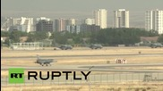 """Турски """"Ф-16"""" се приземява след мисия"""