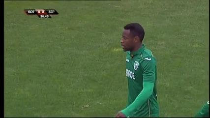 Грубост и един червен картон по време на дербито на Тракия
