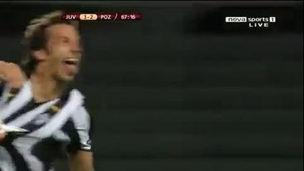 Фантастичен гол на Дел Пиеро .. Juventus - Lech 3 - 3
