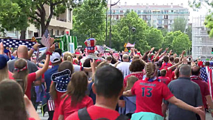France: USA and Chile fans gear up ahead of Women's WC clash in Paris
