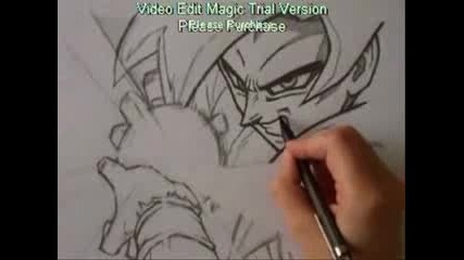 how to draw Goku ssj