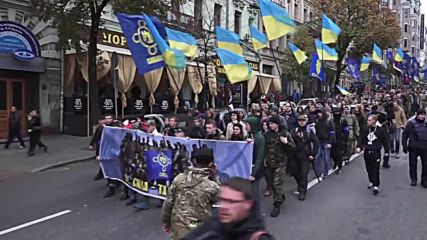 Ukraine: Svoboda, Right Sector march on 74th anniversary of UPA founding