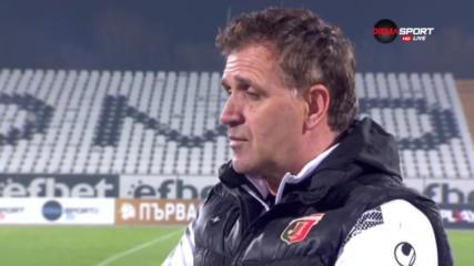 Акрапович: Не мога да кажа нищо лошо за отбора си, голът на Неделев наруши всичко