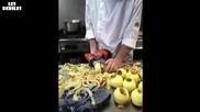 Ето как се белят ябълки