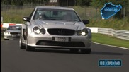 Kimi Raikkonen and Kim Dotcom on the Ring Clk 63 black series