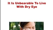 Cure For Dry Eyes