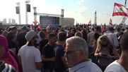 Lebanon: Thousands gather at Beirut port as bells ring out in honour of victims of explosions