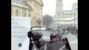 !!! Протестите В София Атаката На Куките...