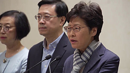 Hong Kong: Government will not 'yield to pressure' - Carrie Lam