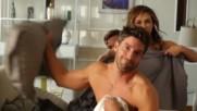 La Doa As graban Aracely Armbula y David Chocarro las escenas en la cama Telemundo