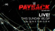 WWE Payback - Live this Sunday