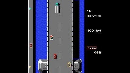Road Fighter (nes) помните ли тази игра
