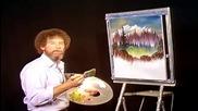 S06 Радостта на живописта с Bob Ross E09 - планинска хижа ღобучение в рисуване, живописღ