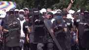 Bulgaria: Clashes, arrests as police block protesters' access to coastal area in Burgas