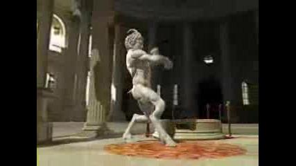 Истинско шоу - танцуваща статуя!