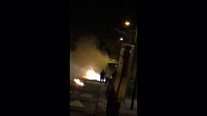 France: Fires on streets of Cergy ahead of Bastille Day