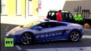 Полицията в Милано използва Ламборджини за пренасянe на органи за трансплантация