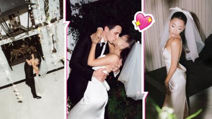 Ариана Гранде качи първи снимки от сватбата! Вижте булката, която скри повечето татуси