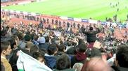 Български фенове в екстаз по време на мача с Лацио