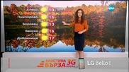 Прогноза за времето (13.11.2015 - обедна)