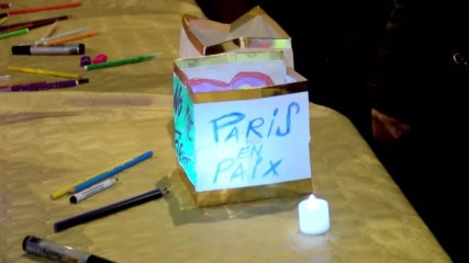 France: Paris attacks commemorated with floating lanterns in Canal Saint-Martin