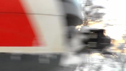 на входния семафор на гара Панагюрище