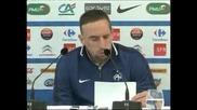 Рибери се извини на Франция при завръщането си в националния отбор