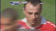 Manchester United vs. Fulham 09.04.2011 1st Goal Berbatov!!!