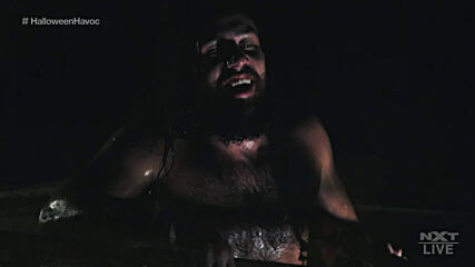 Dexter Lumis unleashes horrors on Cameron Grimes in the Haunted House of Terror: NXT Halloween Havoc, Oct. 28, 2020