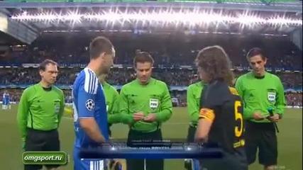 Barcelona vs Chelsea Полу финал 1-0 за Chelsea всички нападения и голове 18.4.2012