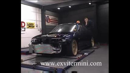 Nissan Skyline Gt - R33 1360кс С Nos На Dyno Test