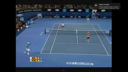 Федерер срещу Надал /двойки/ интересна точка