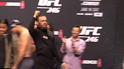 Ufc 246 Ceremonial Weigh-ins Conor Mcgregor vs Cowboy Cerrone
