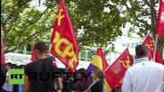Spain: Anti-NATO protesters rally against 'Trident Juncture' drills in Zaragoza