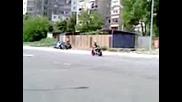 Мотосбирката в Стара Загора (втори ден) Загрявка преди гонките атрактивно каране 2009