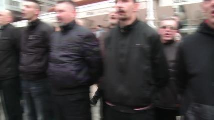 Croatia: Black-shirted nationalist 'militia' parade in Zagreb