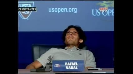 Надал припадна на пресконференцията след мача с Налбандян