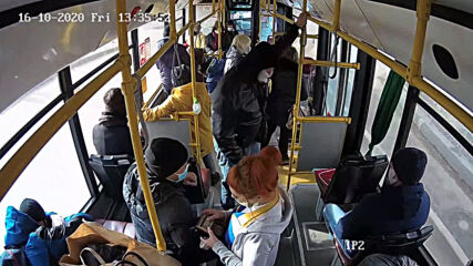 Russia: Bus passenger hits ticket inspector after request to put on face mask