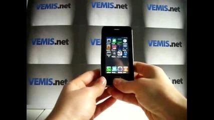 F4g Mini iphone 4 Wifi Бг меню Tv 2sim 2сим 2gb две Камери и Светкавица реплика от www.vemis.net