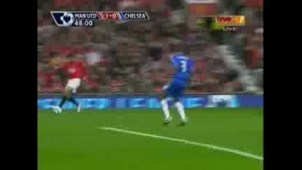 Man Utd Vs Chelsea First Goal From Tevez