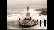 Нефтена платформа заседна край Аляска