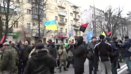 Ukraine: Protesters attack Russian bank on anniversary of Maidan's bloodiest day