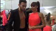 Dancing Stars - Нели и Наско минути преди началото на предаването 18.03.2014 г.