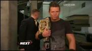 The Miz randomly shoves a guy backstage on Raw