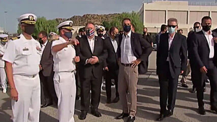 Greece: PM Mitsotakis meets Pompeo at US naval base on Crete