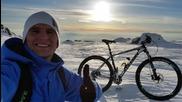 Изкачване на Черни връх с колело + спускане от 2290м. 21 Февруари 2015г.